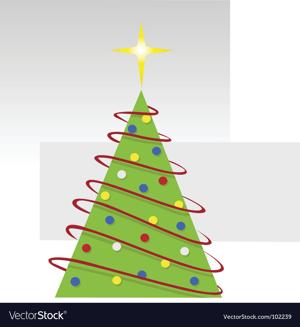 Merry christmas tree vector | Price: 1 Credit (USD $1)