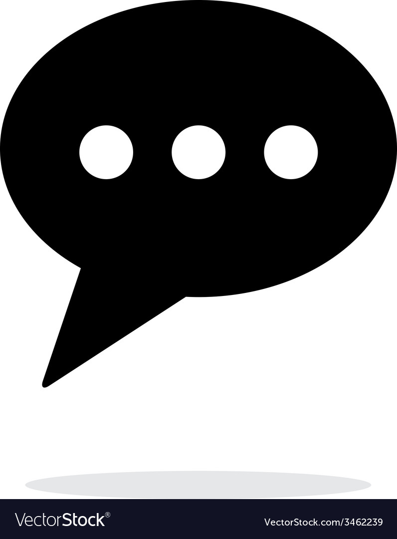 Phone message icon on white background vector | Price: 1 Credit (USD $1)