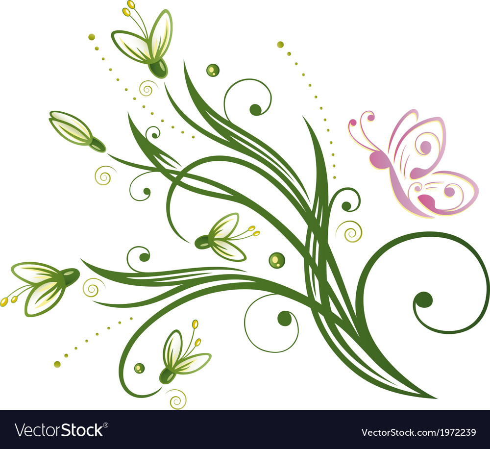 Snowdrop spring vector | Price: 1 Credit (USD $1)