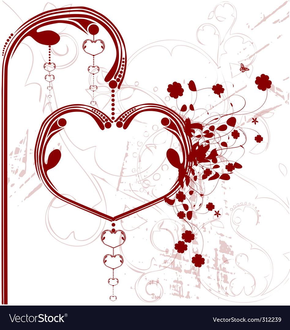 Valentine heart lantern vector | Price: 1 Credit (USD $1)