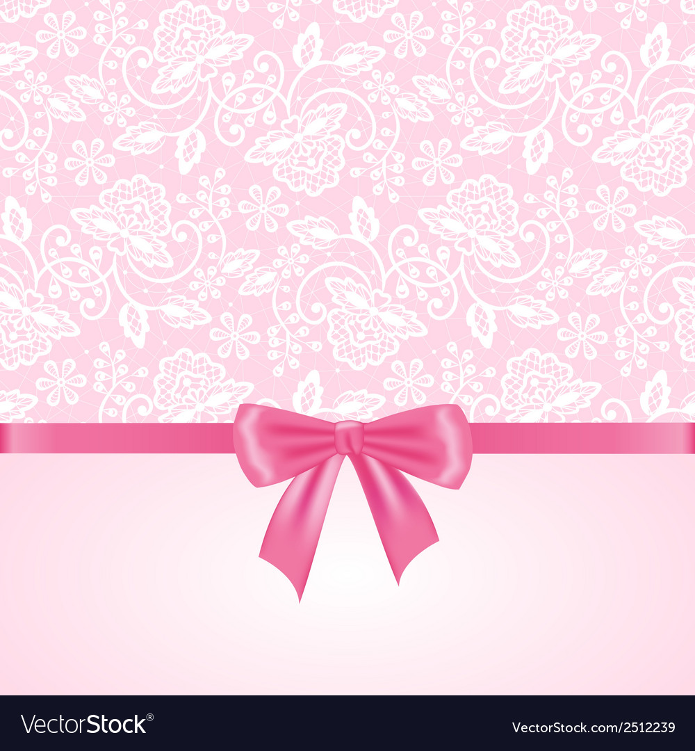 White lace on pink background vector   Price: 1 Credit (USD $1)