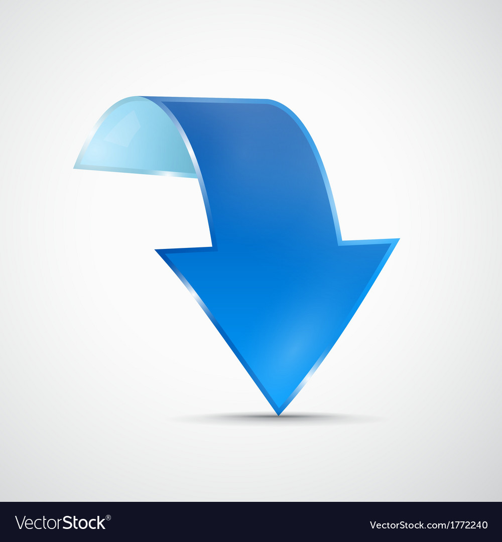 Abstract 3d blue arrow icon vector | Price: 1 Credit (USD $1)