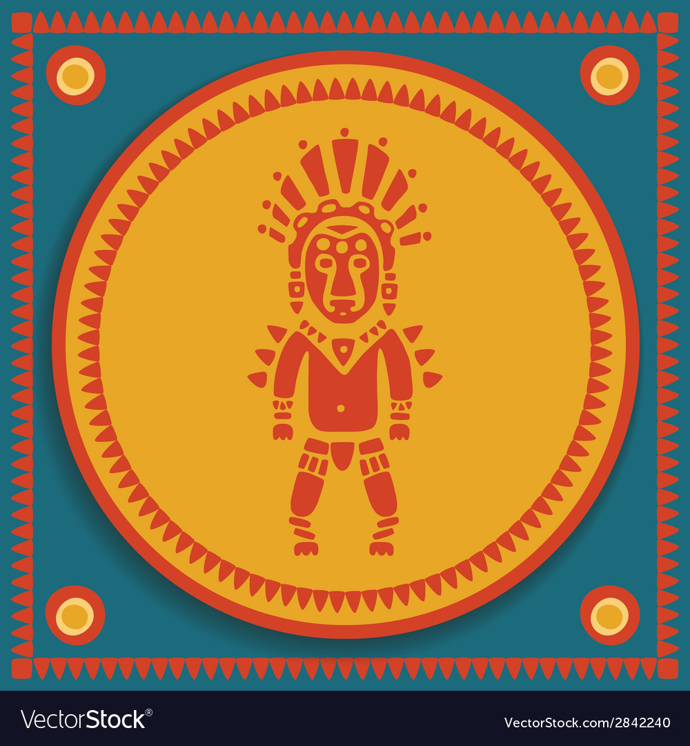 Aztec on stylized background vector | Price: 1 Credit (USD $1)