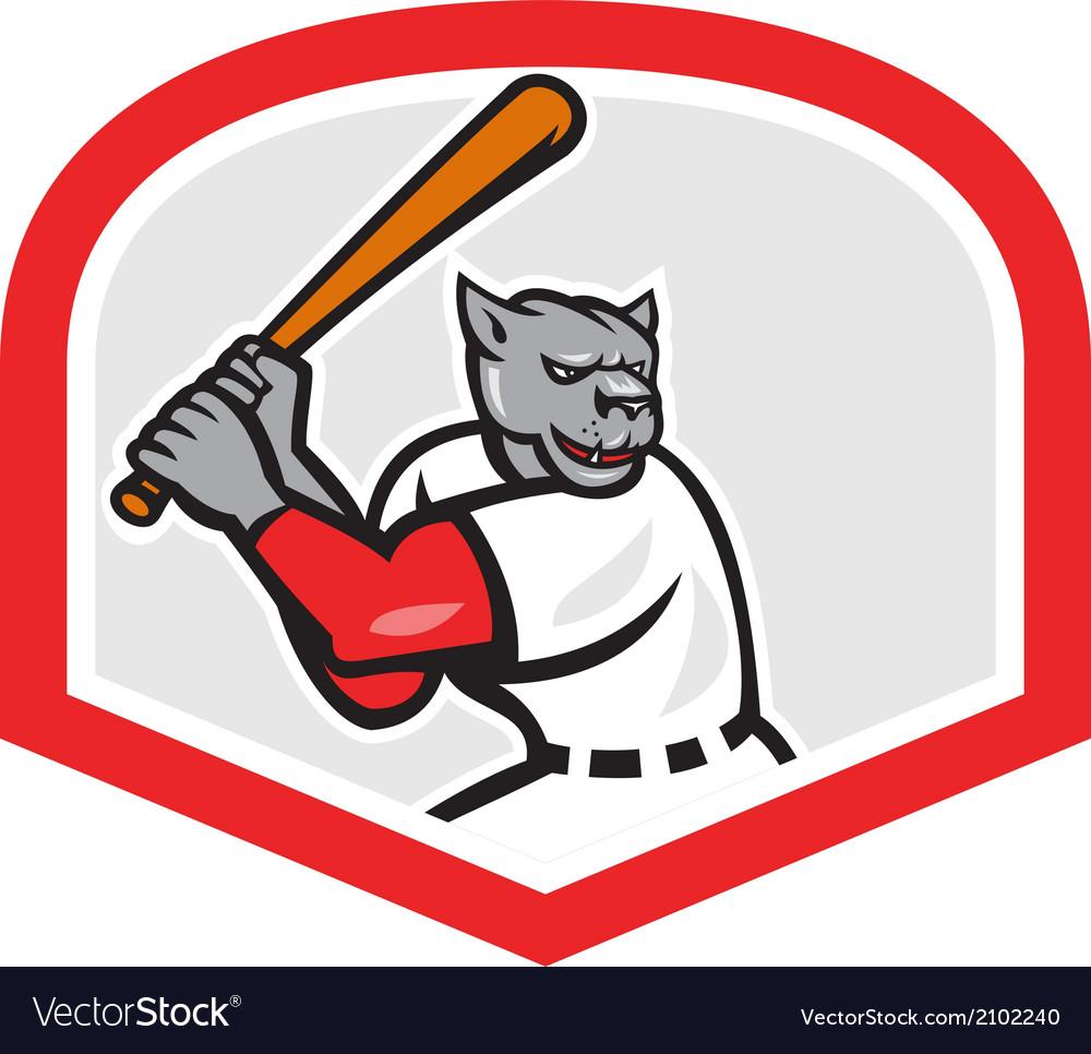 Black panther baseball player batting cartoon vector | Price: 1 Credit (USD $1)