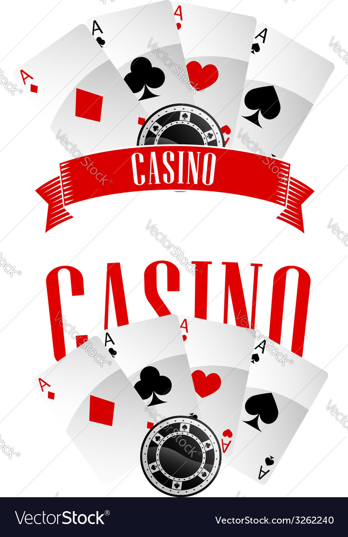 Casino signs or emblems vector | Price: 1 Credit (USD $1)
