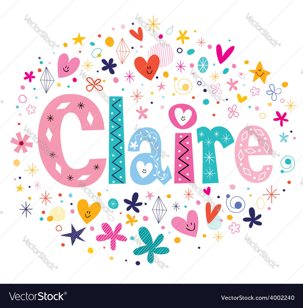 Claire name design vector | Price: 1 Credit (USD $1)