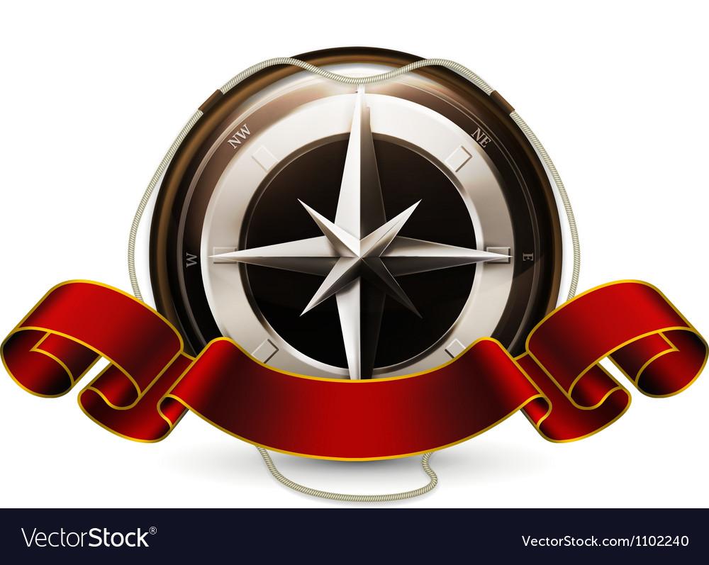 Compass emblem vector | Price: 1 Credit (USD $1)