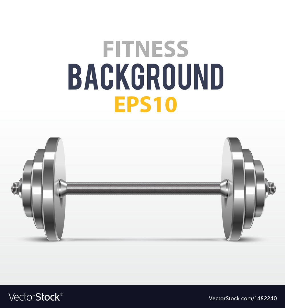 Fitness background with metal dumbbell vector | Price: 1 Credit (USD $1)