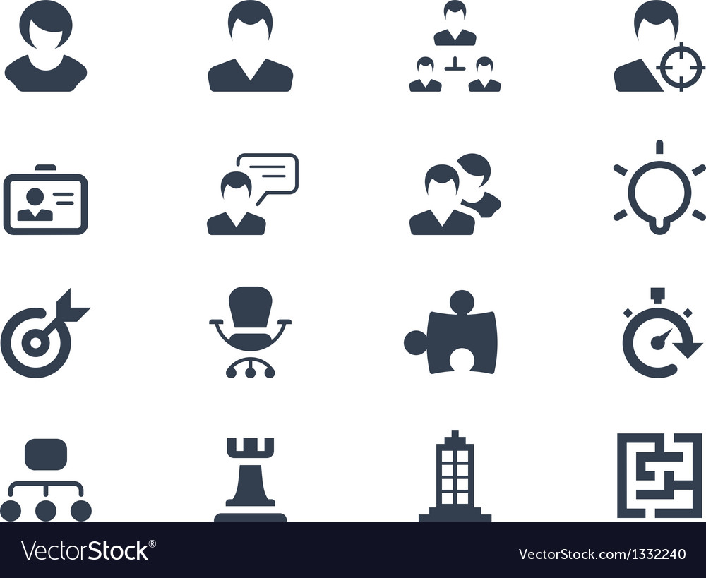 Human resource icons vector | Price: 1 Credit (USD $1)