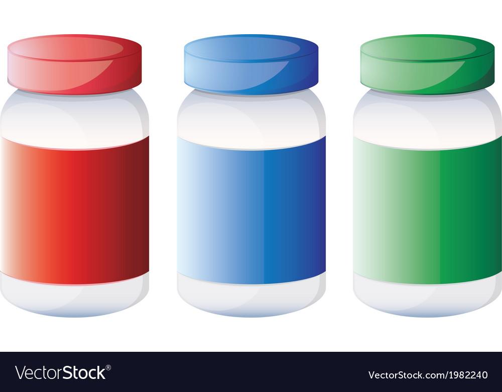Jars of medicine vector | Price: 1 Credit (USD $1)