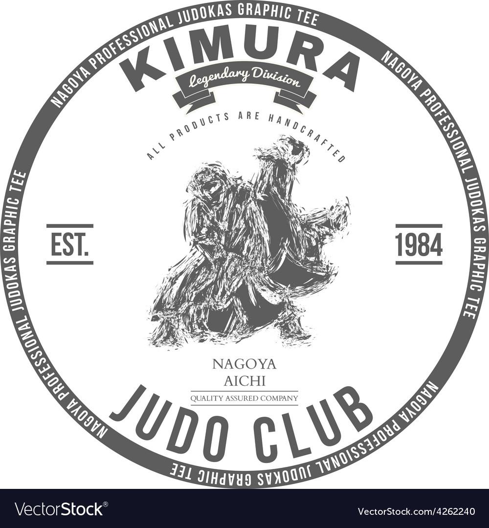 Judo club t-shirt graphics label vector | Price: 1 Credit (USD $1)
