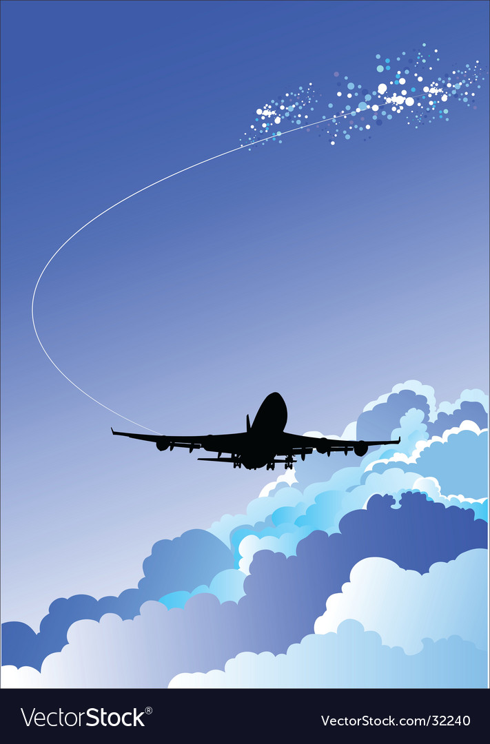 Landing airplane vector | Price: 1 Credit (USD $1)