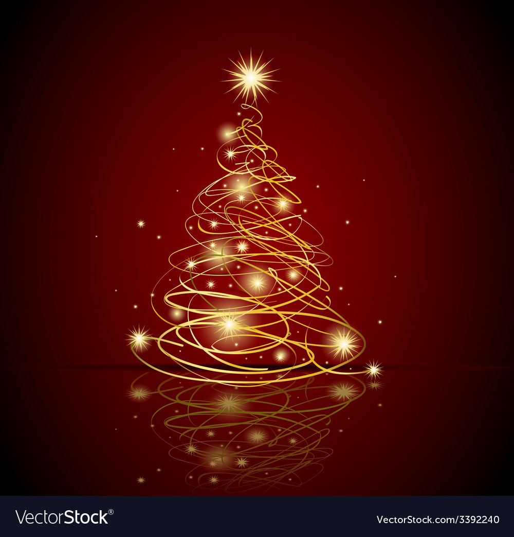 Modern christmas tree vector | Price: 1 Credit (USD $1)