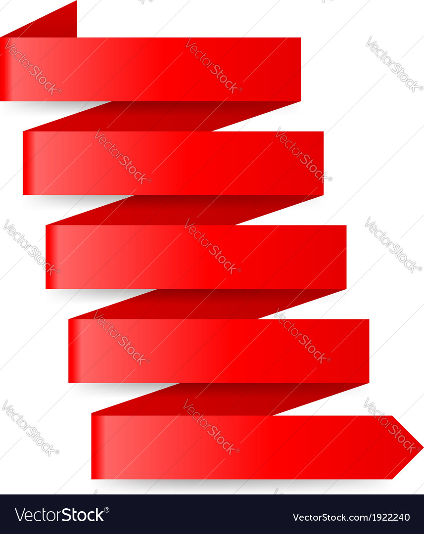 Red paper arrow vector   Price: 1 Credit (USD $1)