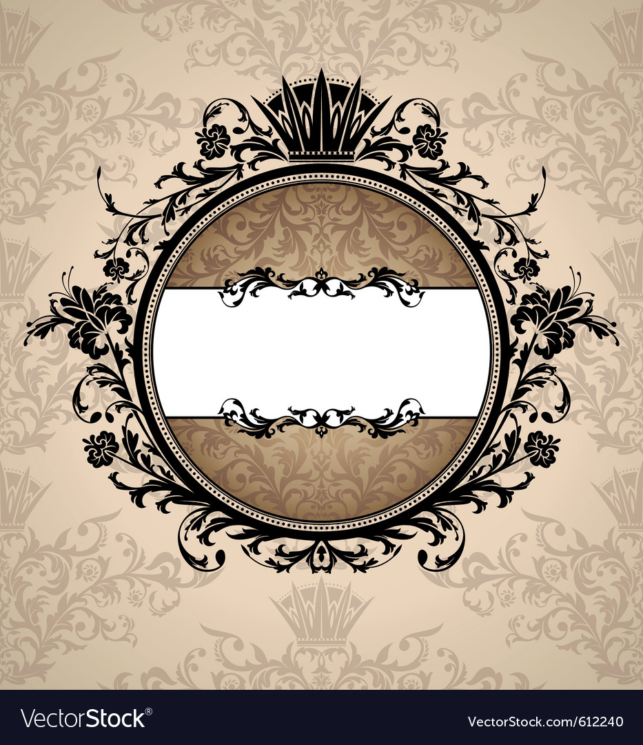 Royal artistic vintage frame vector | Price: 1 Credit (USD $1)