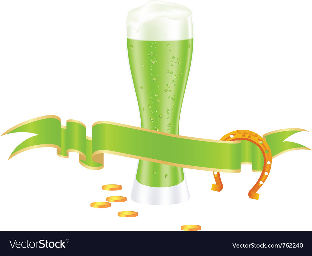 Shamrock beer vector | Price: 1 Credit (USD $1)