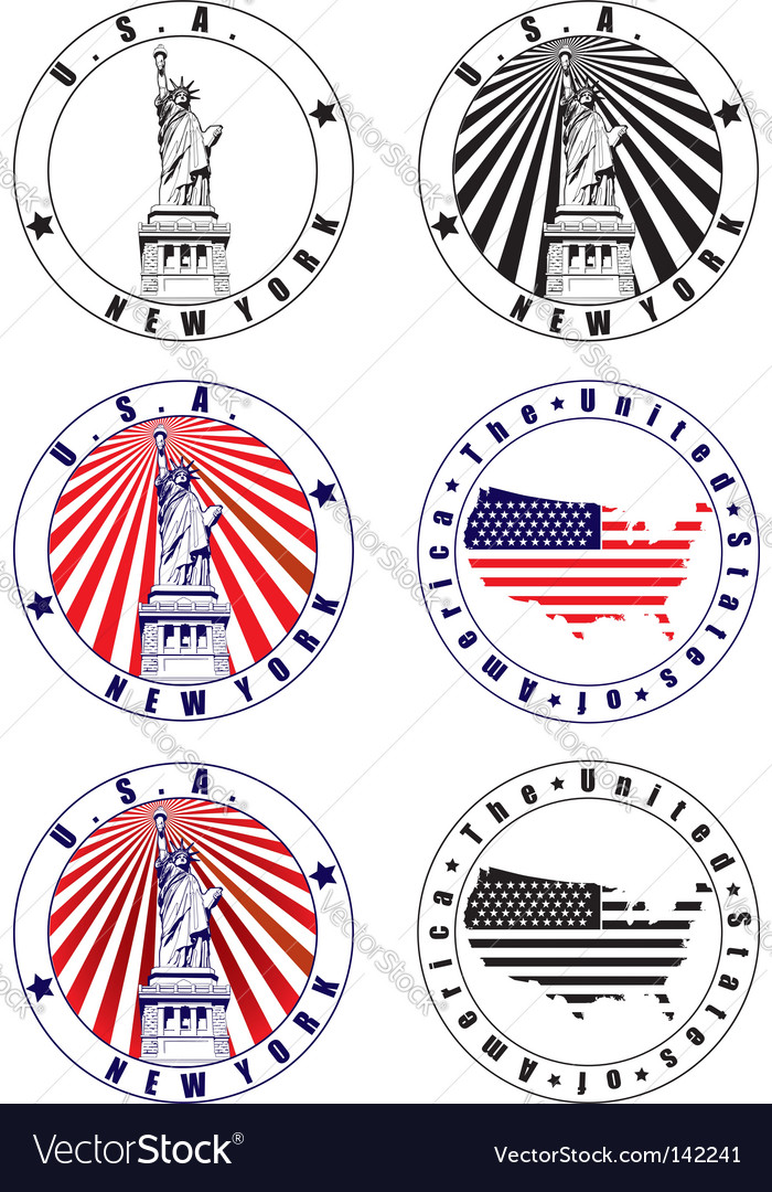 American stamp vector | Price: 1 Credit (USD $1)