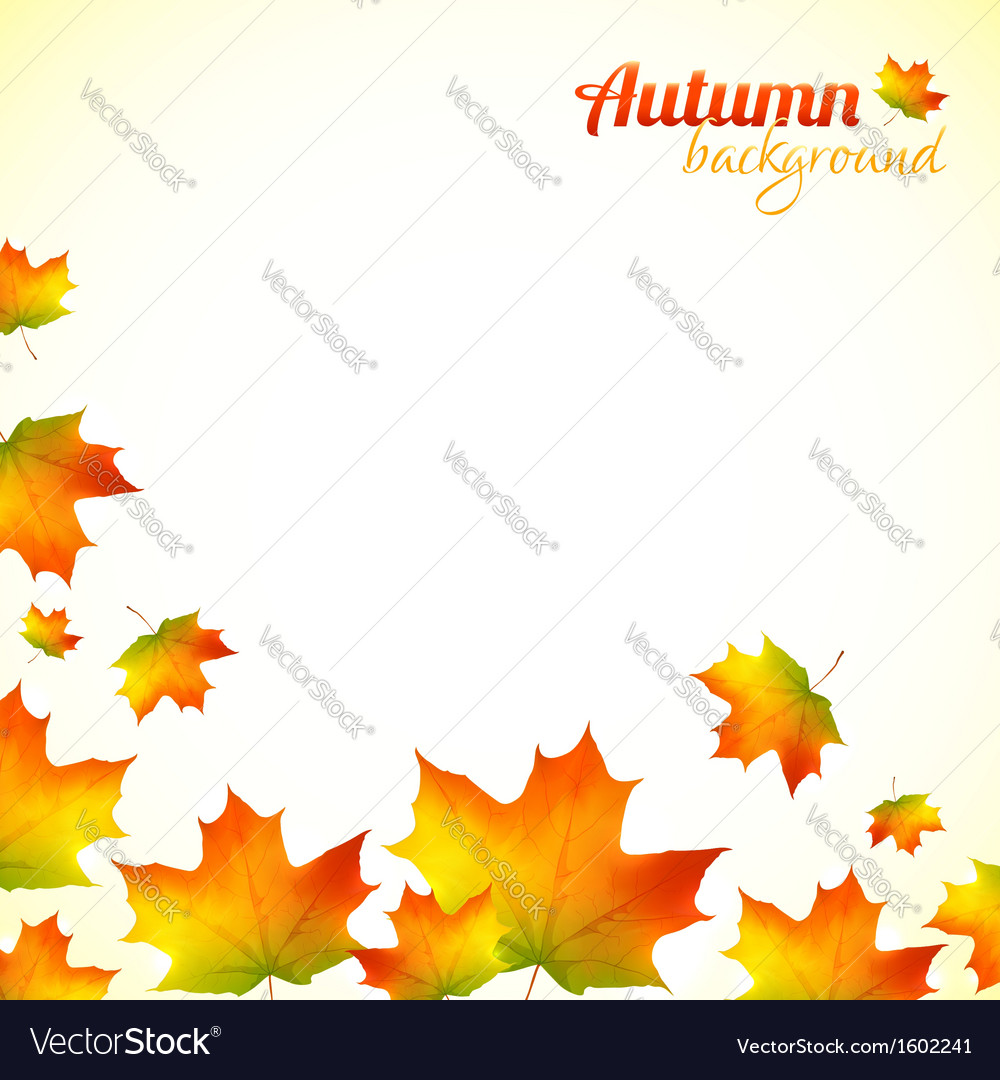 Autumn falling down foliage background vector | Price: 1 Credit (USD $1)