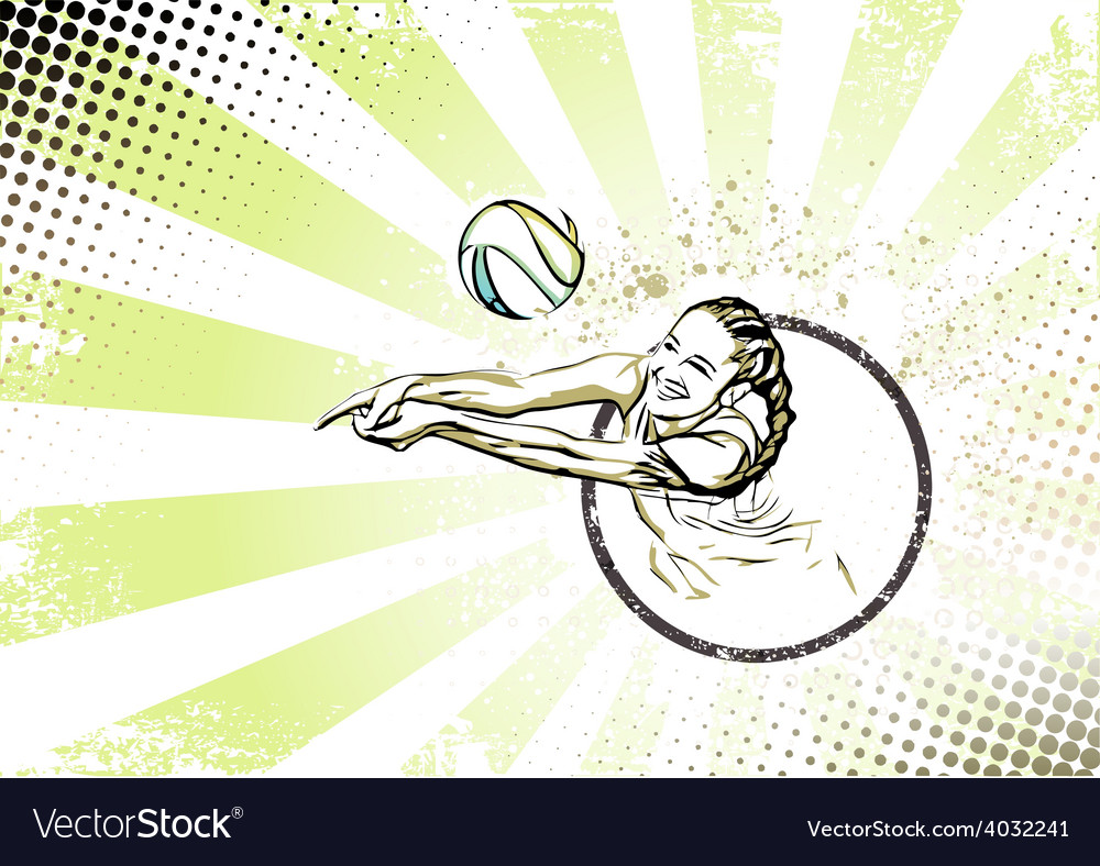 Beach volleyball poster vector | Price: 3 Credit (USD $3)