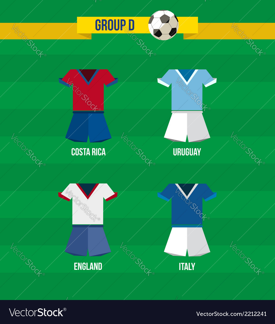 Brazil soccer championship 2014 group d team vector | Price: 1 Credit (USD $1)