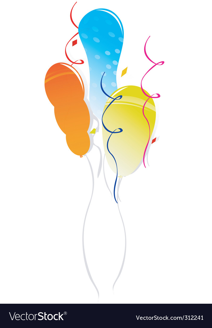 Decorative balloons vector   Price: 1 Credit (USD $1)