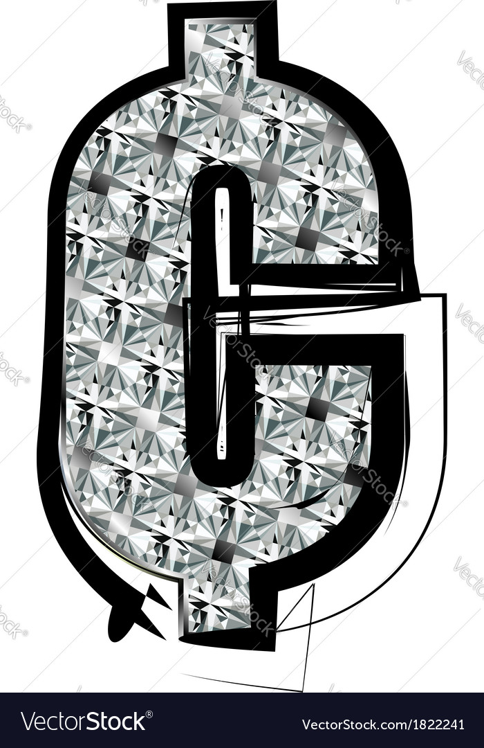 Diamond font symbol vector | Price: 1 Credit (USD $1)