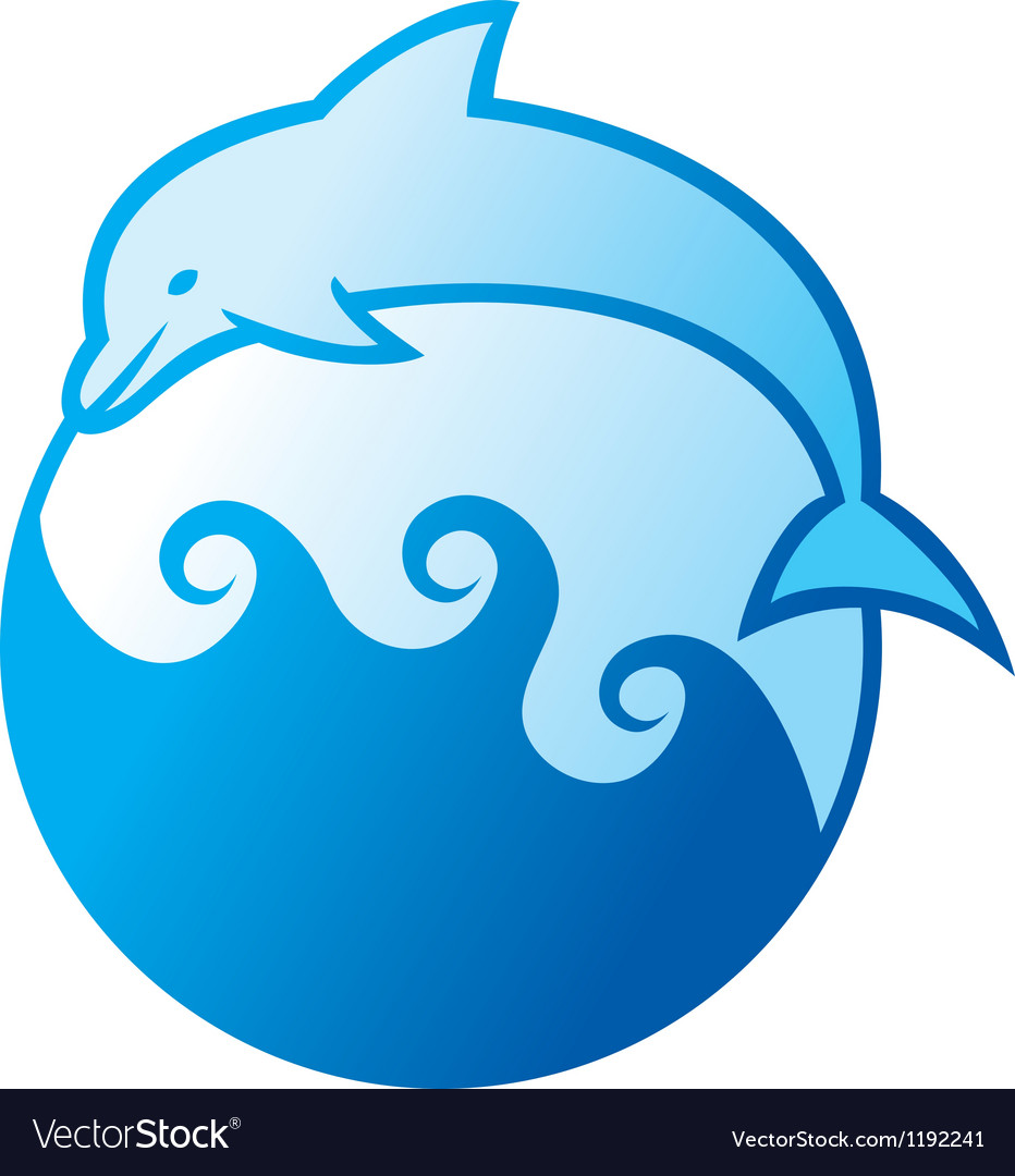 Dolphin jumping symbol vector | Price: 1 Credit (USD $1)