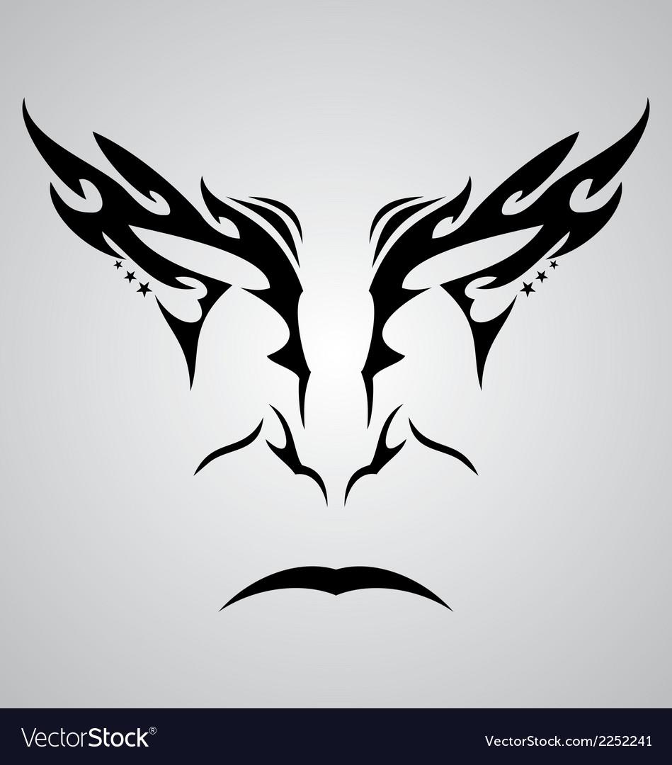 Face tattoo design vector | Price: 1 Credit (USD $1)