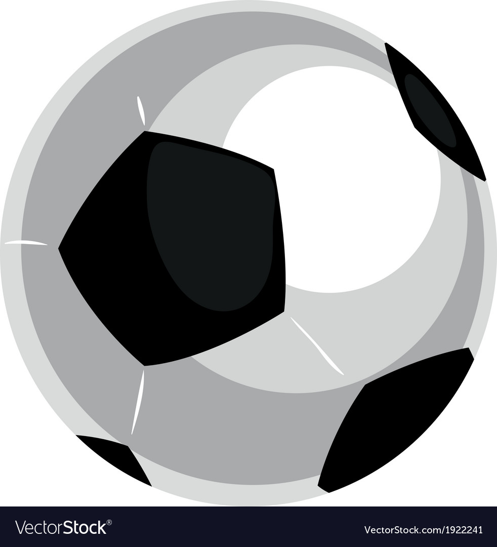 Football soccer ball isolated on white backgroun vector   Price: 1 Credit (USD $1)