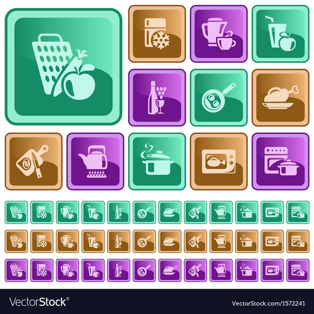Kitchen and cooking buttons vector   Price: 1 Credit (USD $1)