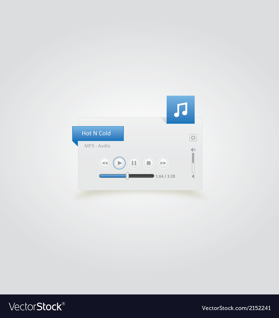 Music player 14 vector | Price: 1 Credit (USD $1)