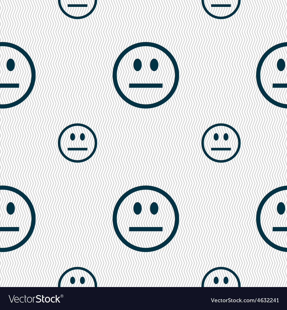 Sad face sadness depression icon sign seamless vector | Price: 1 Credit (USD $1)