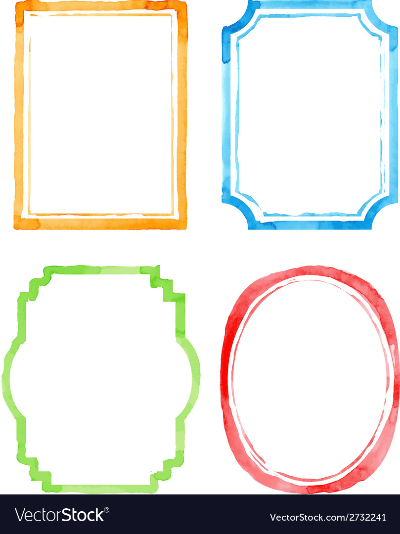 Set watercolor frames vector   Price: 1 Credit (USD $1)