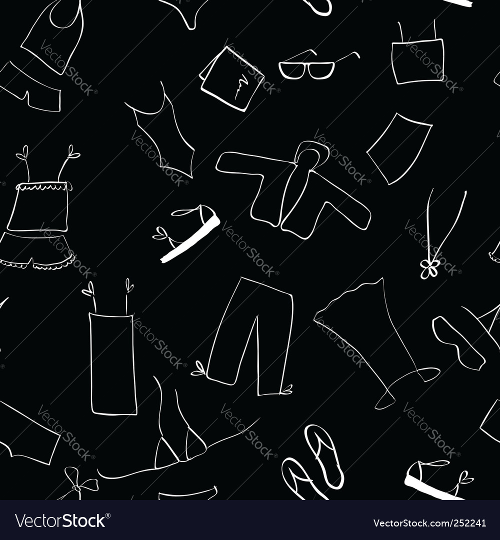 Shopping clothes seamless background vector | Price: 1 Credit (USD $1)