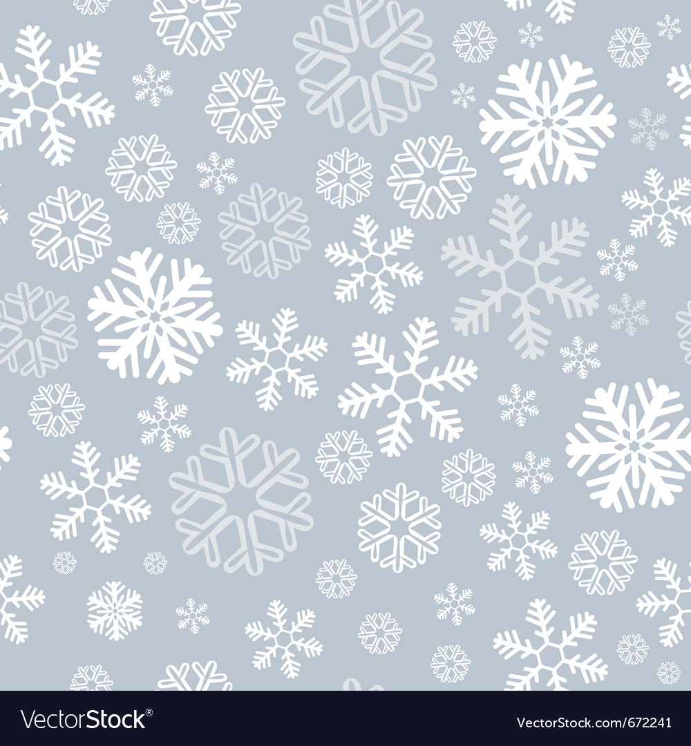 Snowflake seamless background vector | Price: 1 Credit (USD $1)