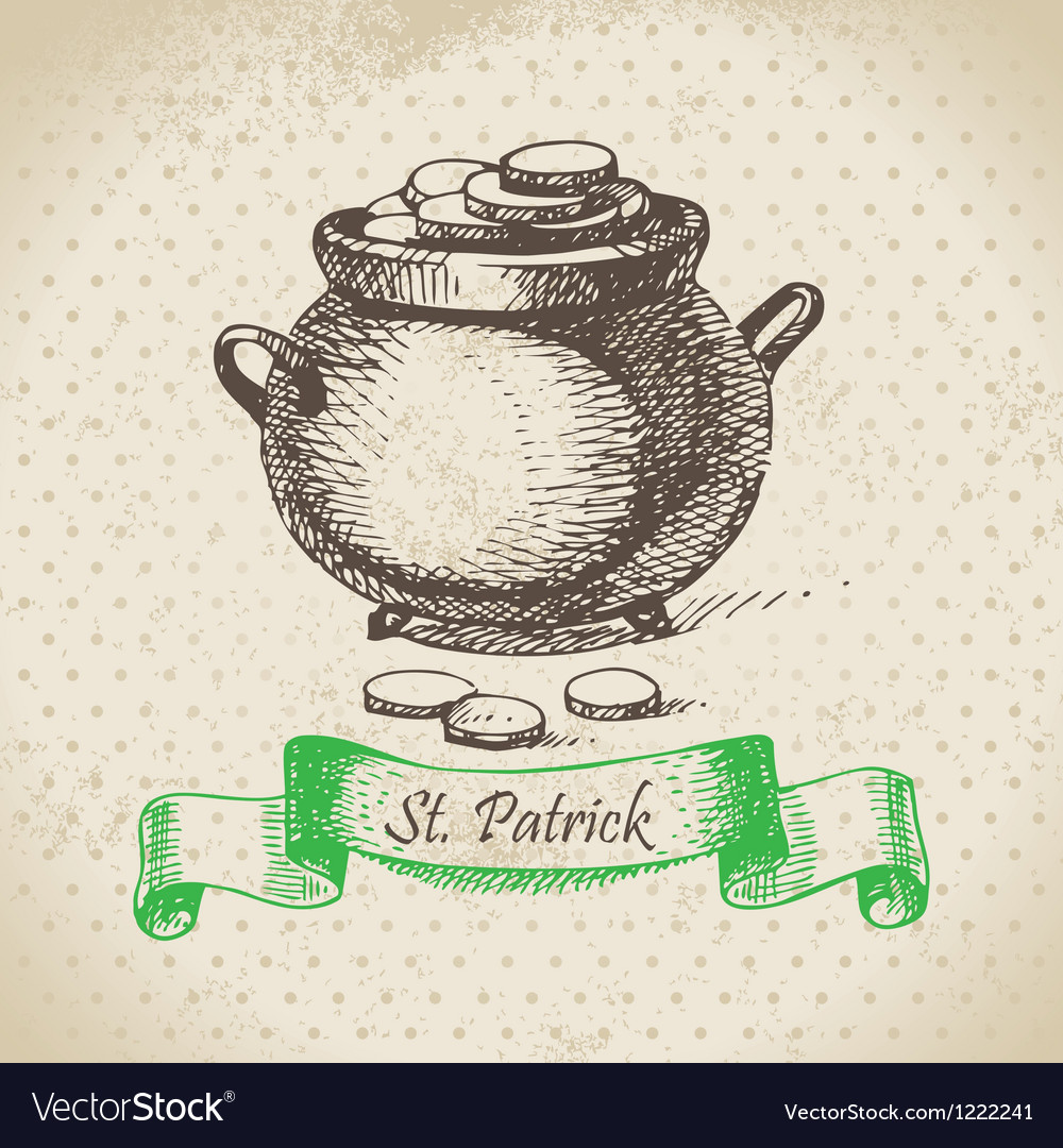 St patricks day vintage background vector | Price: 1 Credit (USD $1)