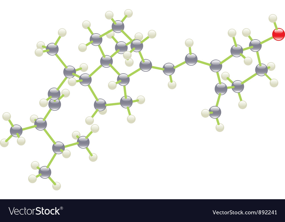 Vitamin d molecule vector | Price: 1 Credit (USD $1)