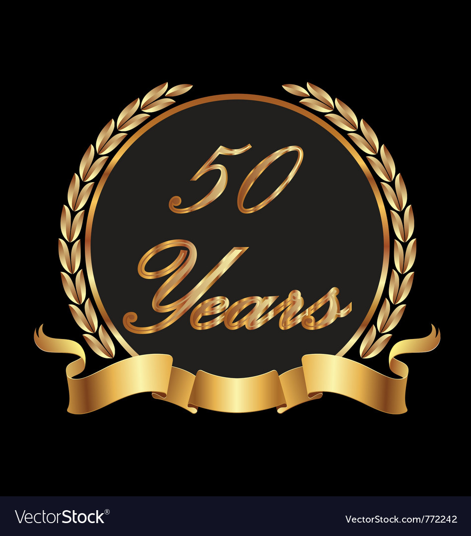 50 years commemoration vector | Price: 1 Credit (USD $1)