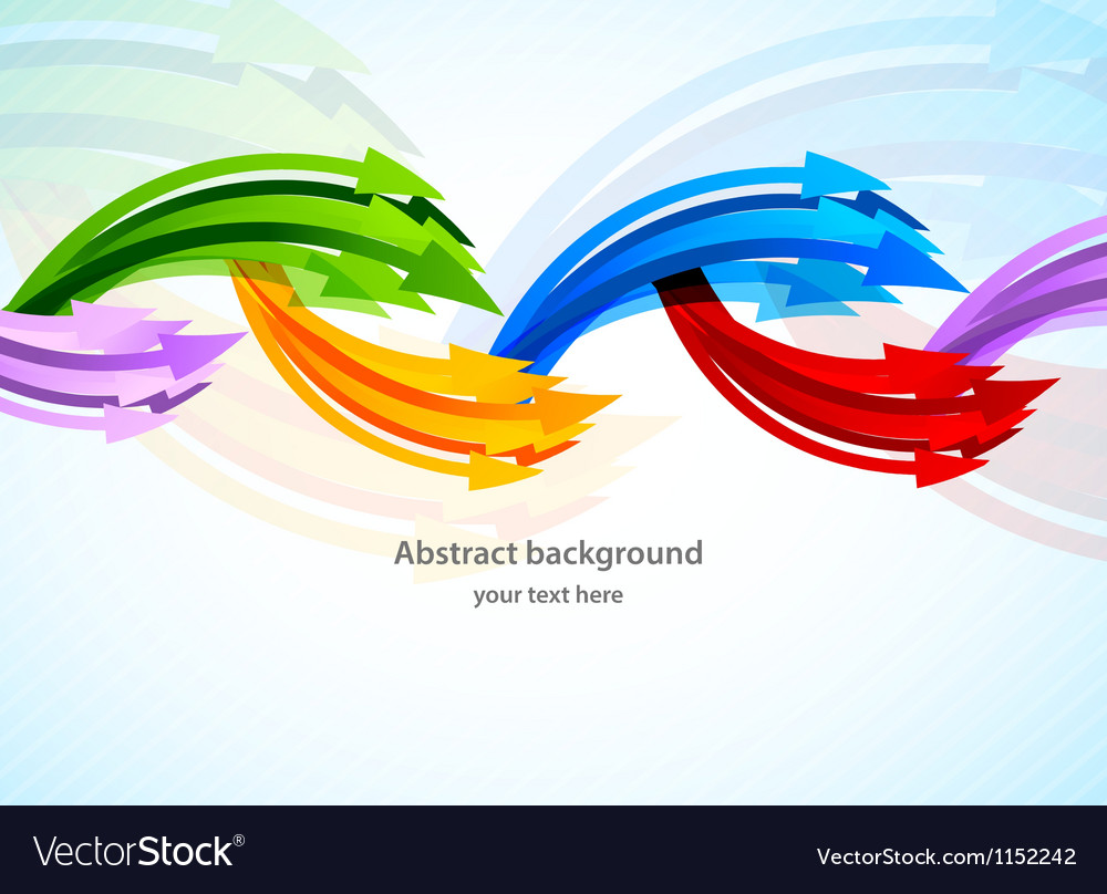 Background with colorful arrow vector   Price: 1 Credit (USD $1)
