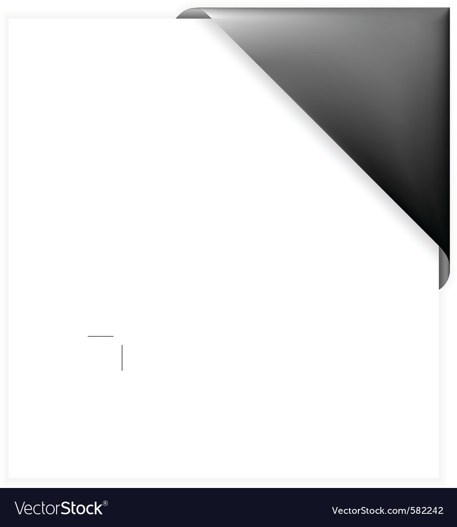 Black corner holder vector | Price: 1 Credit (USD $1)
