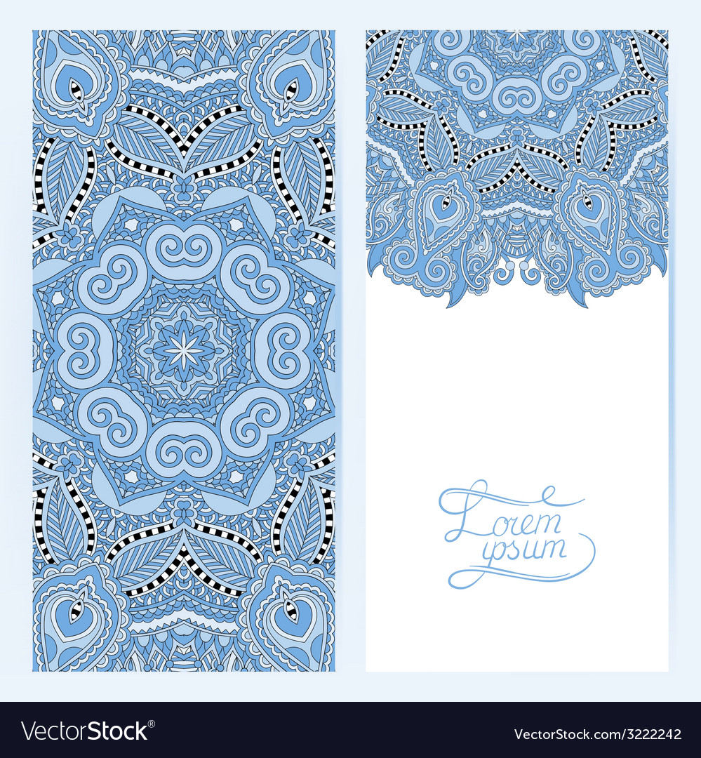 Blue colour decorative label card for vintage vector | Price: 1 Credit (USD $1)