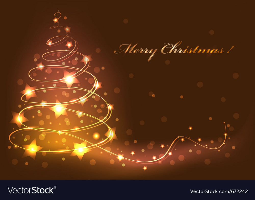 Christmas tree card abstract vector | Price: 1 Credit (USD $1)