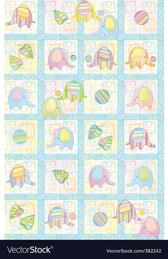 Cute animal pattern vector | Price: 1 Credit (USD $1)