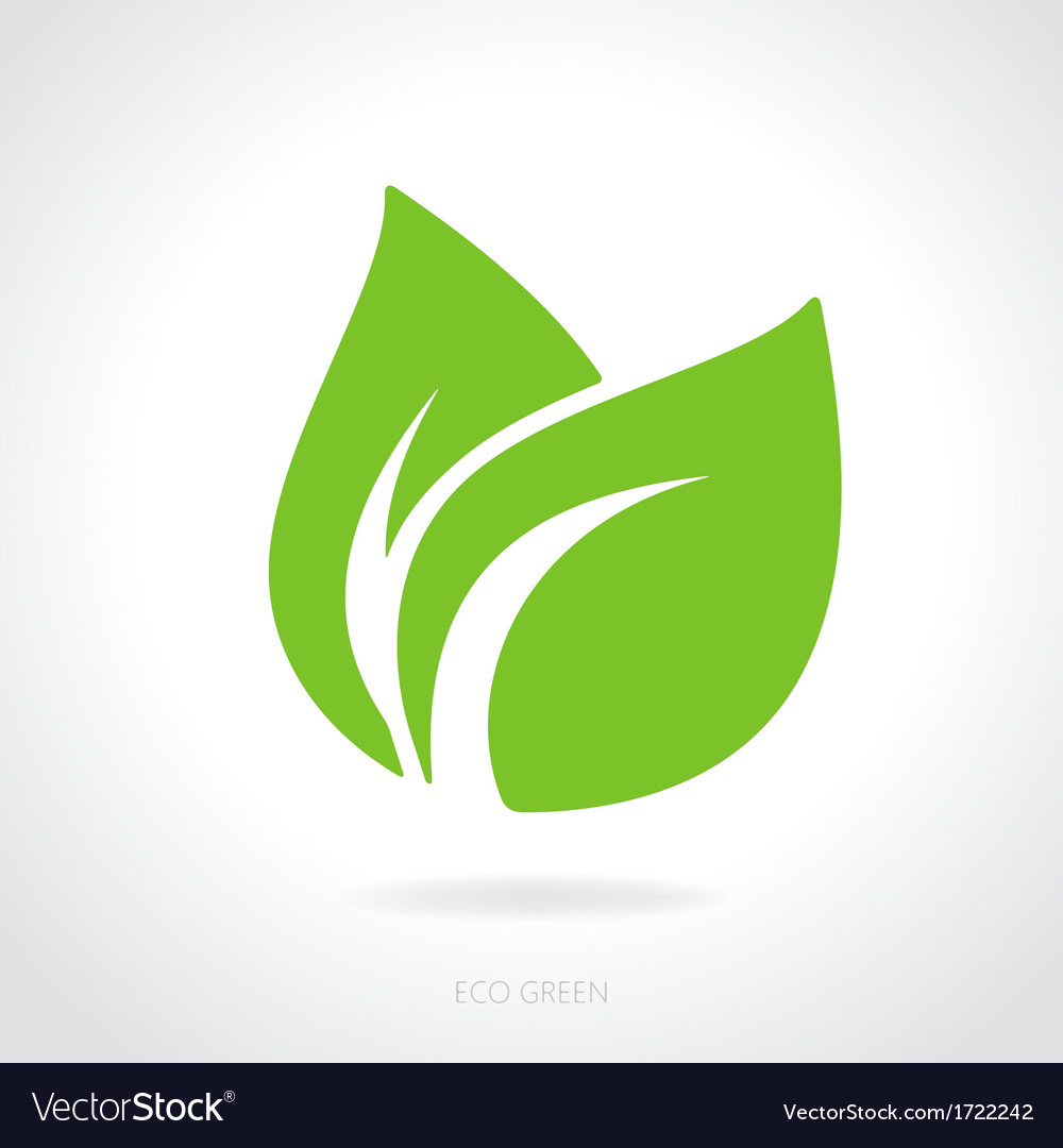 Eco green leaf concept vector | Price: 1 Credit (USD $1)