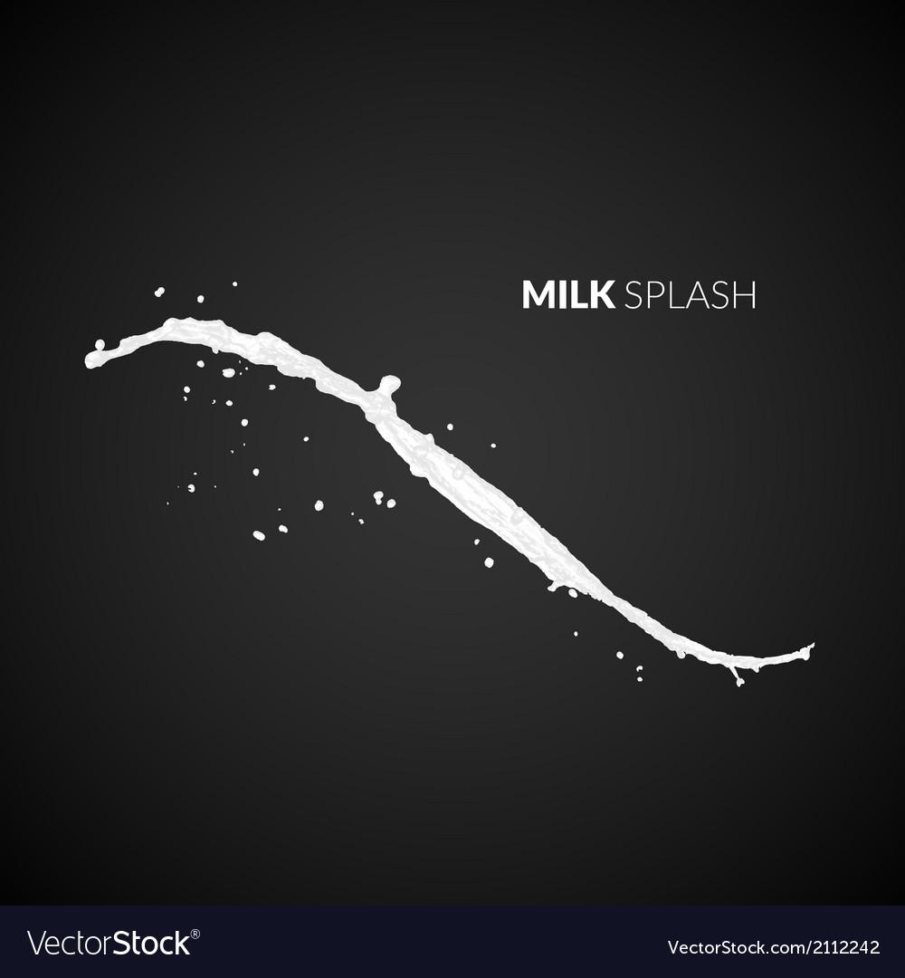 Milk splash isolated on black background vector | Price: 1 Credit (USD $1)