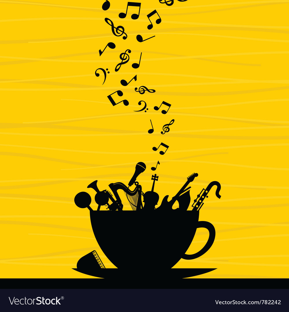 Musical instrument in a cup vector | Price: 1 Credit (USD $1)