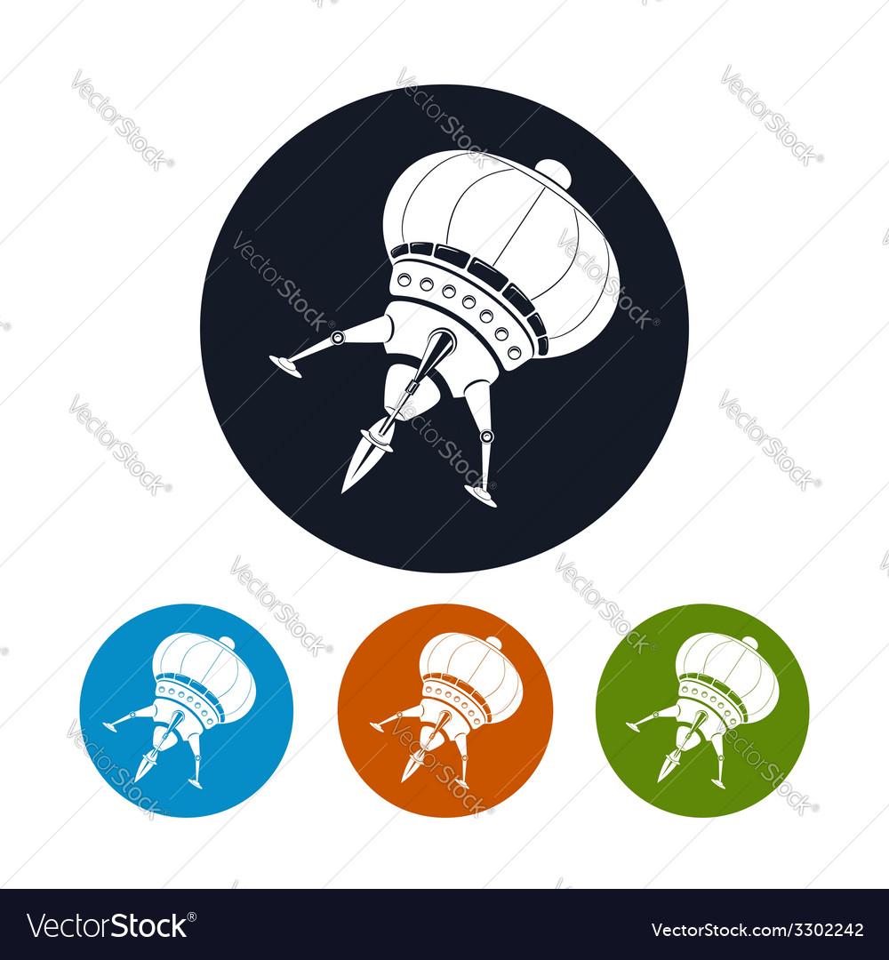 Spaceship icon vector | Price: 1 Credit (USD $1)