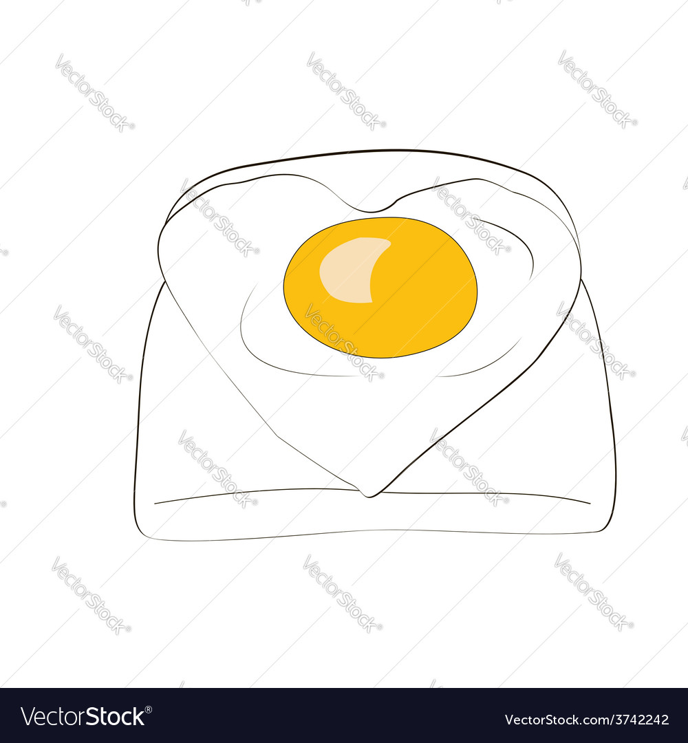 Toast with egg vector | Price: 1 Credit (USD $1)
