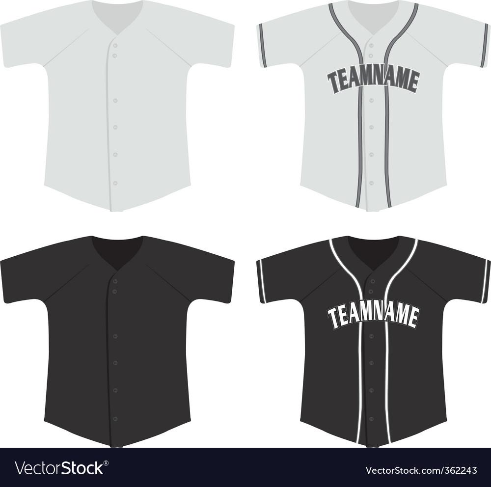 Baseball jersey vector