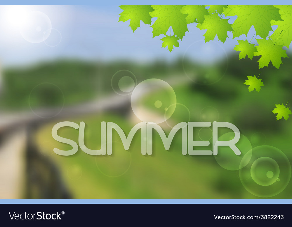 Bright green summer landscape design vector | Price: 1 Credit (USD $1)